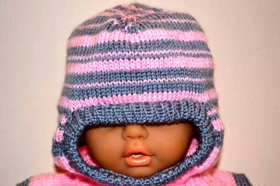 Как связать детскую шапку шлем