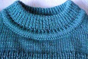 Как связать горловину свитера