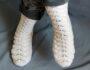 Как связать ажурные носки спицами