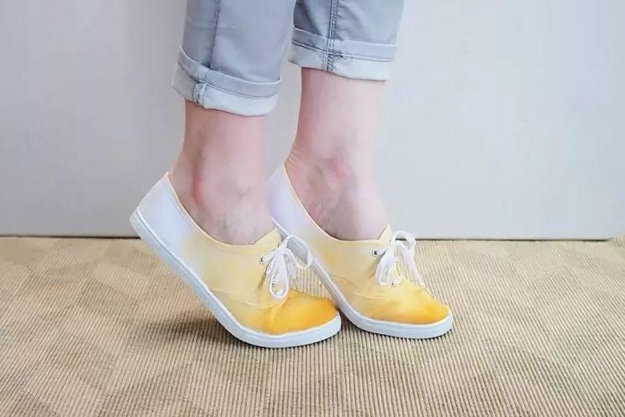 Как перекрасить обувь
