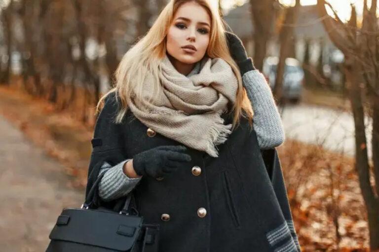 палантин на пальто как завязывать