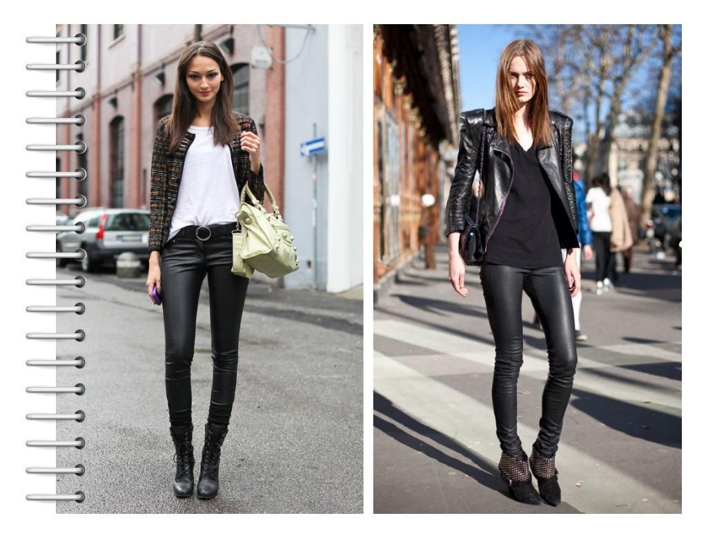 Фото девушек в кожаных штанах